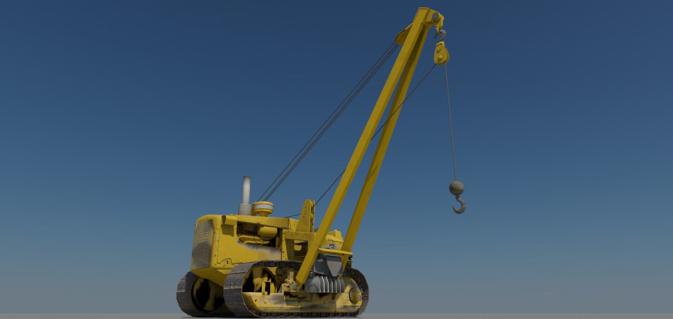 Project: Caterpillar D6D Side Crane. Core model built for Fay Engineering Corp.