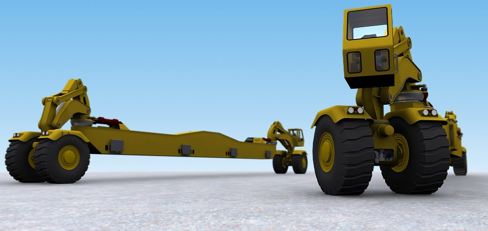Project: Custom heavy lift transport. Core Solidworks model by The Wheel Thing